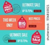 ultimate sale discount banner... | Shutterstock .eps vector #556810021