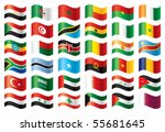wavy flags set   africa  ... | Shutterstock . vector #55681645
