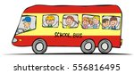 school bus and children. funny... | Shutterstock .eps vector #556816495