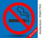 no smoking sign on white... | Shutterstock .eps vector #556817941