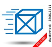 parcel delivery icon. flat... | Shutterstock .eps vector #556818511