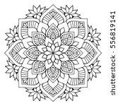 flower mandalas. vintage... | Shutterstock .eps vector #556819141