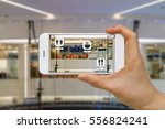 application of augmented... | Shutterstock . vector #556824241