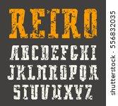 narrow slab serif font in retro ... | Shutterstock .eps vector #556832035