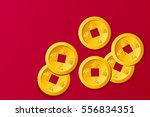 Chinese Gold Coin  Graphic...