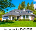 big custom made luxury house... | Shutterstock . vector #556836787