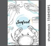 seafood design template ... | Shutterstock .eps vector #556840891