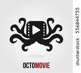 black octopus movie film unique ... | Shutterstock .eps vector #556844755