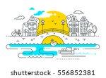city life   vector modern line... | Shutterstock .eps vector #556852381
