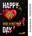 happy valentines day background ... | Shutterstock .eps vector #556853455