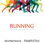 running marathon  people run ... | Shutterstock .eps vector #556853761