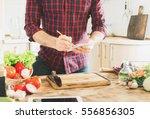 ingredients for cooking healthy ... | Shutterstock . vector #556856305