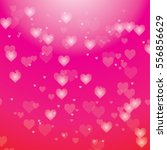 blur hearts on pink background | Shutterstock .eps vector #556856629