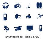 electronics | Shutterstock .eps vector #55685707