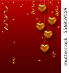 valentines day card design with ... | Shutterstock .eps vector #556859539