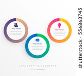 stylish three colorful circles... | Shutterstock .eps vector #556863745