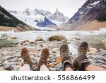 travel trekking leisure holiday ... | Shutterstock . vector #556866499