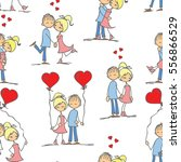 valentine's couple in love and... | Shutterstock .eps vector #556866529