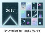 template futuristic calendar... | Shutterstock .eps vector #556870795
