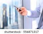 business  people and office...   Shutterstock . vector #556871317