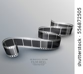 stylish 3d filmstrip background | Shutterstock .eps vector #556872505