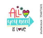 vector hand drawn lettering... | Shutterstock .eps vector #556872631