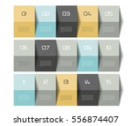 schedule table. 3d. step by... | Shutterstock .eps vector #556874407