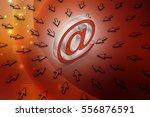 3d illustration of e mail sign...   Shutterstock . vector #556876591