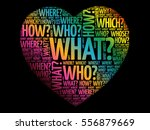 questions heart  question words ... | Shutterstock .eps vector #556879669