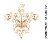 gold vintage baroque ornament... | Shutterstock .eps vector #556881454