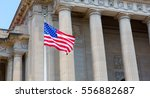 washington dc monuments with... | Shutterstock . vector #556882687