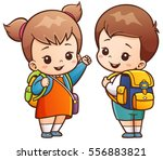 vector illustration of cartoon... | Shutterstock .eps vector #556883821