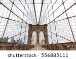 brooklyn bridge  nobody  new... | Shutterstock . vector #556885111