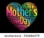 mother's day heart word cloud... | Shutterstock .eps vector #556886479