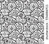 vector seamless pattern in... | Shutterstock .eps vector #556886911