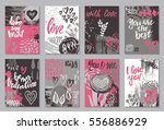 collection of romantic and love ... | Shutterstock .eps vector #556886929
