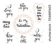 set of handwritten lettering... | Shutterstock .eps vector #556889605