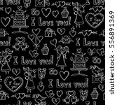 vector pattern with hand drawn... | Shutterstock .eps vector #556891369