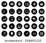 multimedia icons | Shutterstock .eps vector #556892125