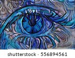 blue eyes in the form of... | Shutterstock . vector #556894561