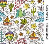 cartoon hand drawn doodles on a ...   Shutterstock .eps vector #556895899