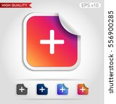 colored icon or button of plus... | Shutterstock .eps vector #556900285