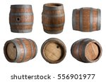 six angle wood barrel  cask ... | Shutterstock . vector #556901977