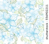 seamless pattern with flowers... | Shutterstock .eps vector #556902211