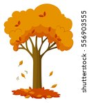 dry leaves falling off the tree ... | Shutterstock .eps vector #556903555