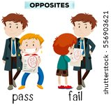 opposite words for pass and... | Shutterstock .eps vector #556903621