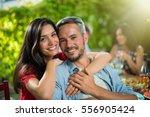 summertime  portrait of a... | Shutterstock . vector #556905424