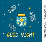 vector night background with... | Shutterstock .eps vector #556909891