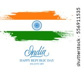 indian happy republic day... | Shutterstock .eps vector #556911535