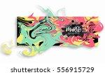 digital ink texture watercolor... | Shutterstock .eps vector #556915729